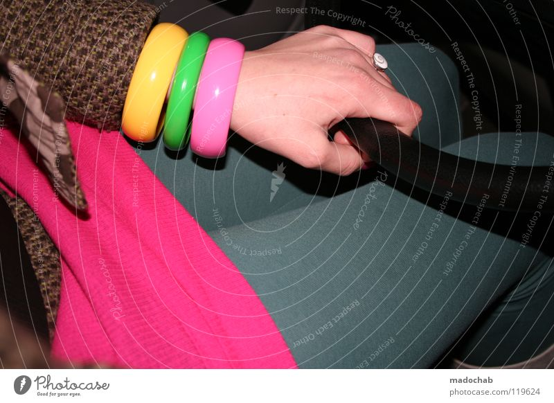 Woman Hand Green Vacation & Travel Yellow Colour Movement Car Pink Transport Clothing Lifestyle Circle Retro Kitsch