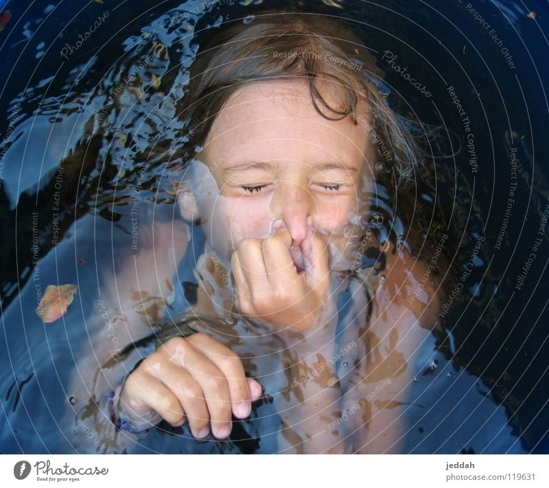 nose to and through! Child Dive Summer Air Breath Wet Expectation Curiosity Water Nose Joy Deep Swimming & Bathing