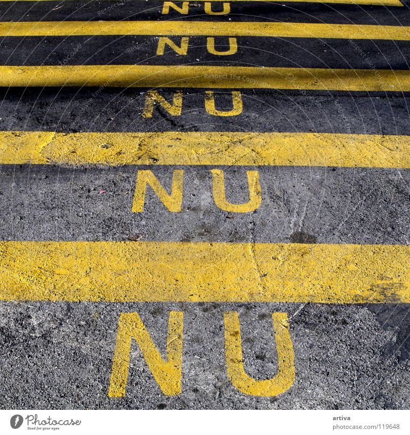 stripes Characters Yellow Stripe Traffic infrastructure nu black street Typography