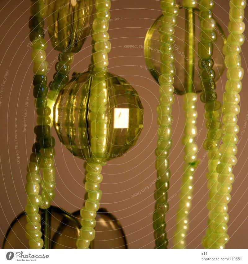 Green Glittering Kitsch Decoration Sphere Luxury Jewellery Pearl Chain Diamond