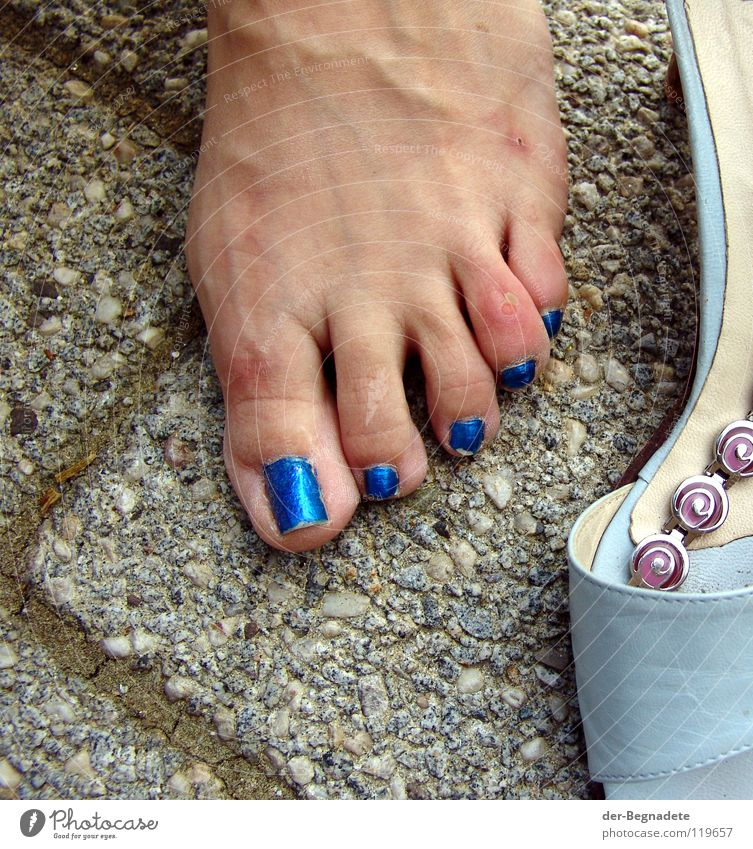 Woman Blue Sadness Feet Feasts & Celebrations Footwear Walking Elegant Skin Concrete Electricity End Anger Pain Turquoise Cosmetics