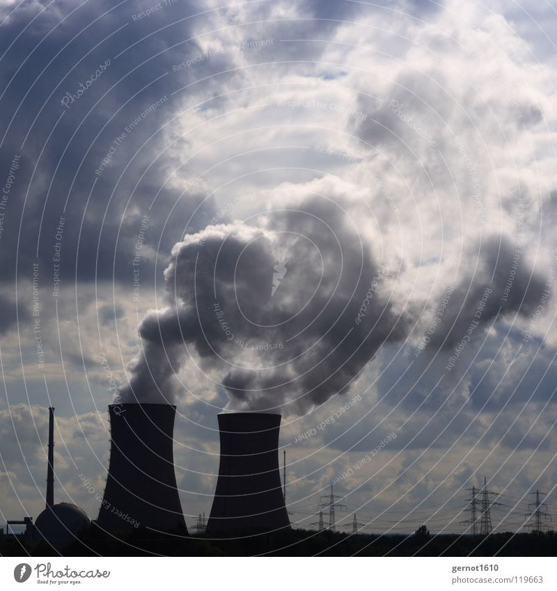 NUCLEAR POWER PLANT Steam Nuclear Power Plant Energy industry Clouds Refrigeration Development Technology High-tech Disaster Radiation Environmental pollution
