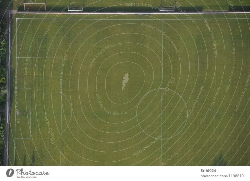 Space for sports # 70 Athletic Leisure and hobbies Sports Fitness Sports Training Ball sports Football pitch Grass Deserted Signs and labeling Line Movement