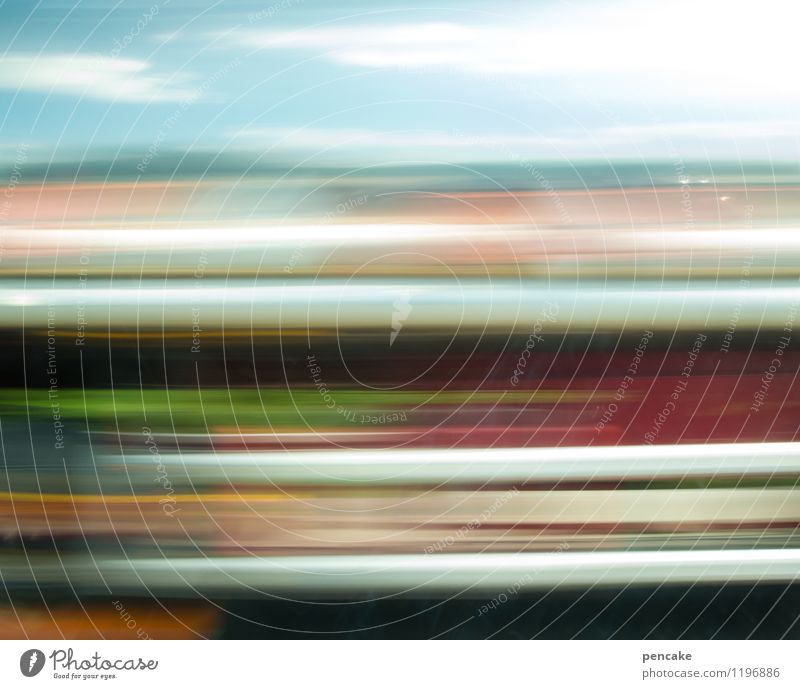 Dizziness. Transport Motoring Truck Sign Speed Heaven Colour photo Exterior shot Neutral Background