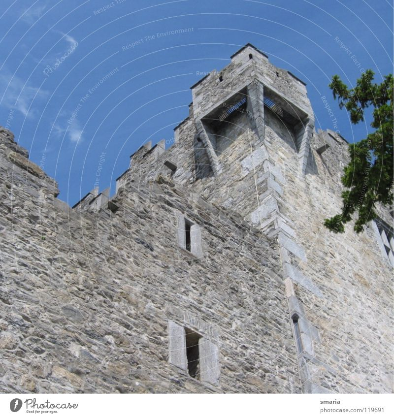castle Rubble Architecture Blue Stone Wall (barrier) Tall Tower Exterior shot Castle