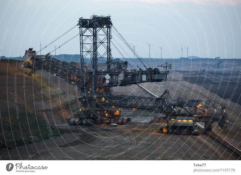Energy industry Power Esthetic Technology Chaos Argument Bizarre Tool Machinery Soft coal mining Construction machinery Coal power station Garzweiler