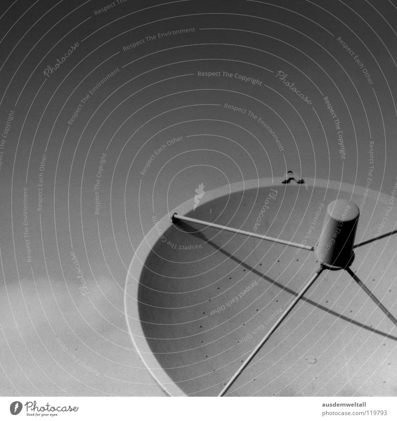 reception Satellite Black White Telecommunications Detail Technology Welcome sky. sky Shadow Exterior shot