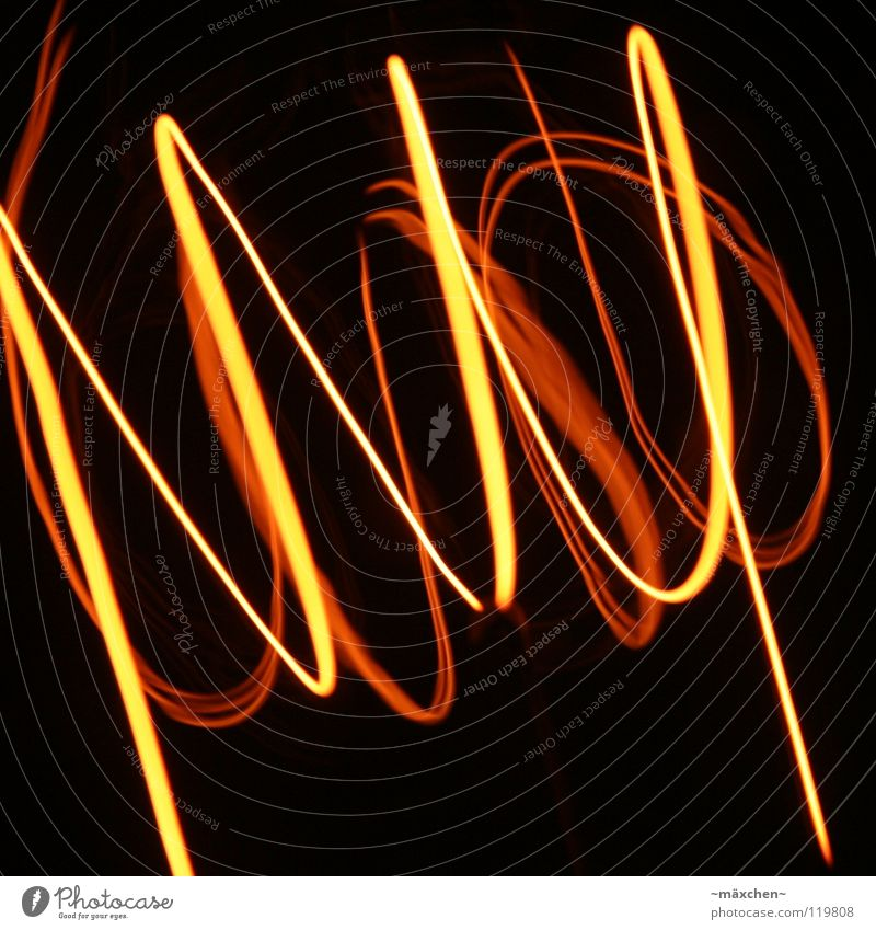 Spiral, the second Wire Glow Lamp Tracer path Light Tunnel Red Yellow White Tracks Filament Muddled Connectedness Together Waves Rotated Rotation