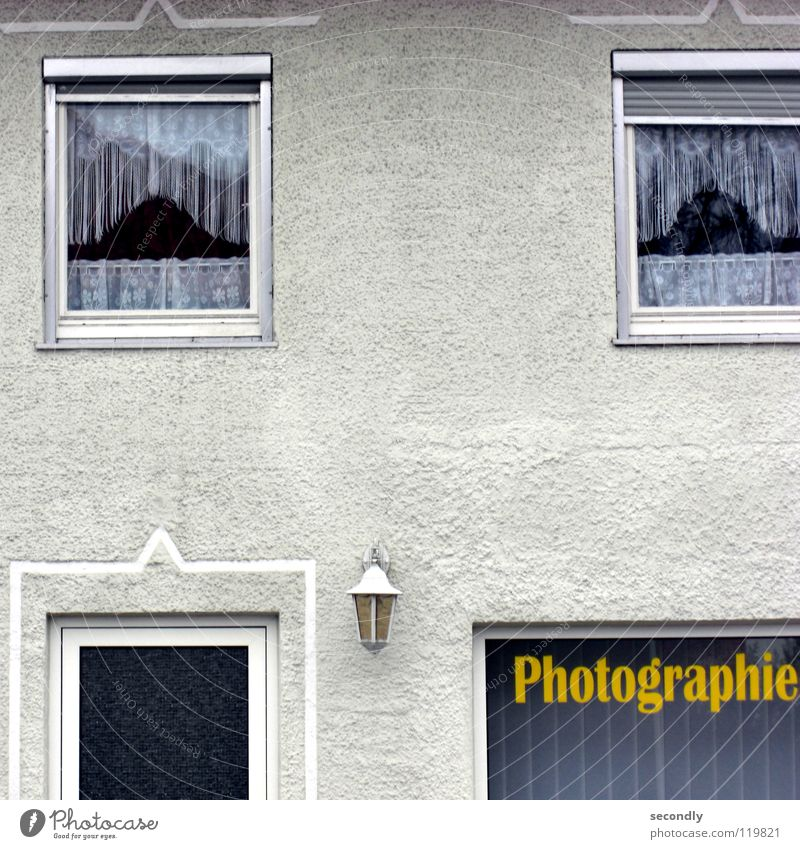 Old House (Residential Structure) Lamp Wall (building) Window Photography Door Characters Letters (alphabet) Services Drape Shop window Front door