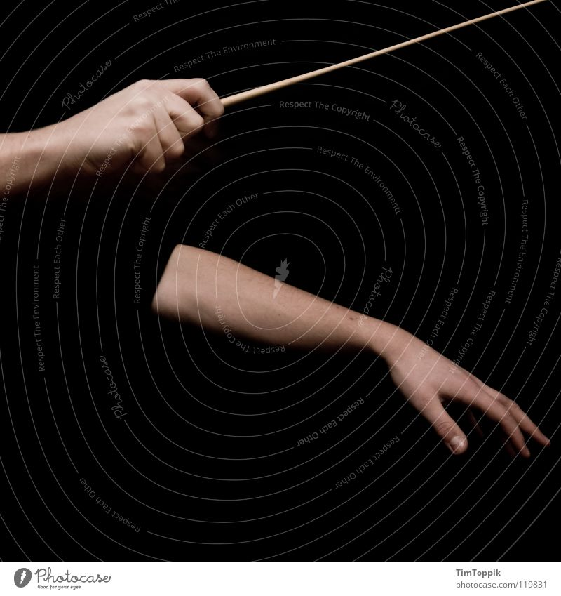 You gotta turn it up. Conductor Hand Fingers Baton Thumb Forefinger Middle finger Ring finger Underarm Fist Orchestra Beat Stick Rhythm Music Concert