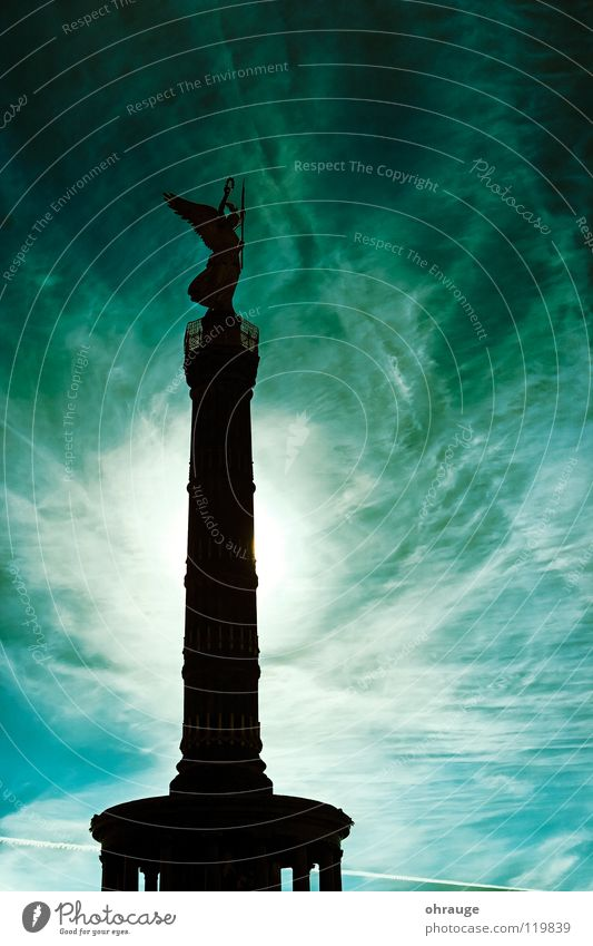 Sky City Vacation & Travel Clouds Berlin Fear Art Stars Germany Gold Large Statue Monument Historic Panic Capital city