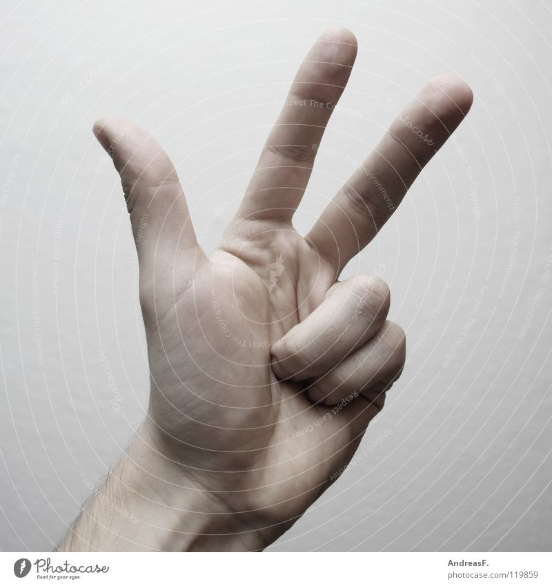 Hand 2 Fingers 3 Digits and numbers Sign Symbols and metaphors Thumb Calculation Indicate Gesture Numbers Mathematics Sign language