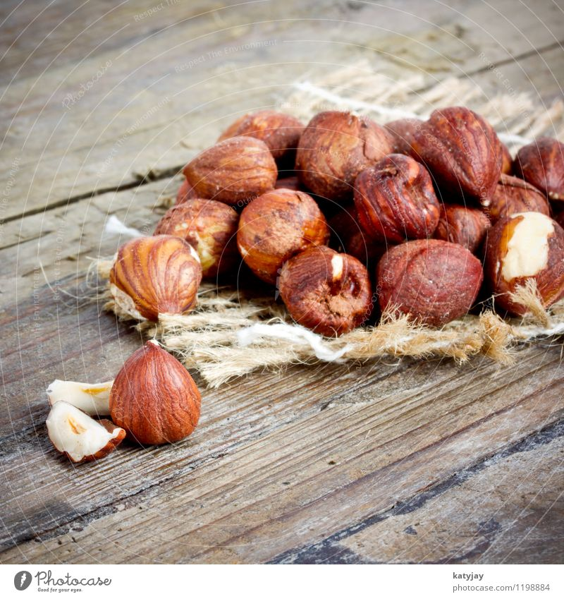 hazelnuts Hazelnut entirely whole Brown Nut Autumn Seed Winter December Fresh White Background picture Sheath Christmas & Advent Nutcrackers Nutrition Near