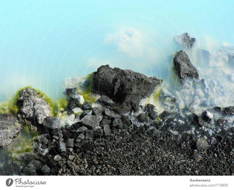 Very blue lagoon Iceland Lagoon Sulphur Blue Lagoon Hot springs Stone Minerals Water geo reykyavik Part Coast Phosphorus