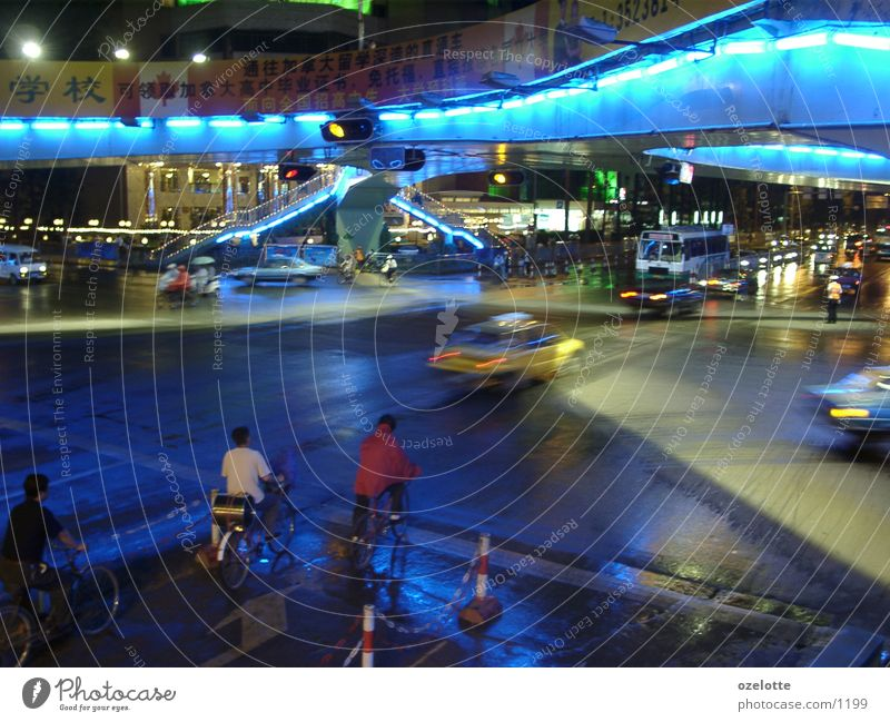 Kunming at night Light China Blue Mixture
