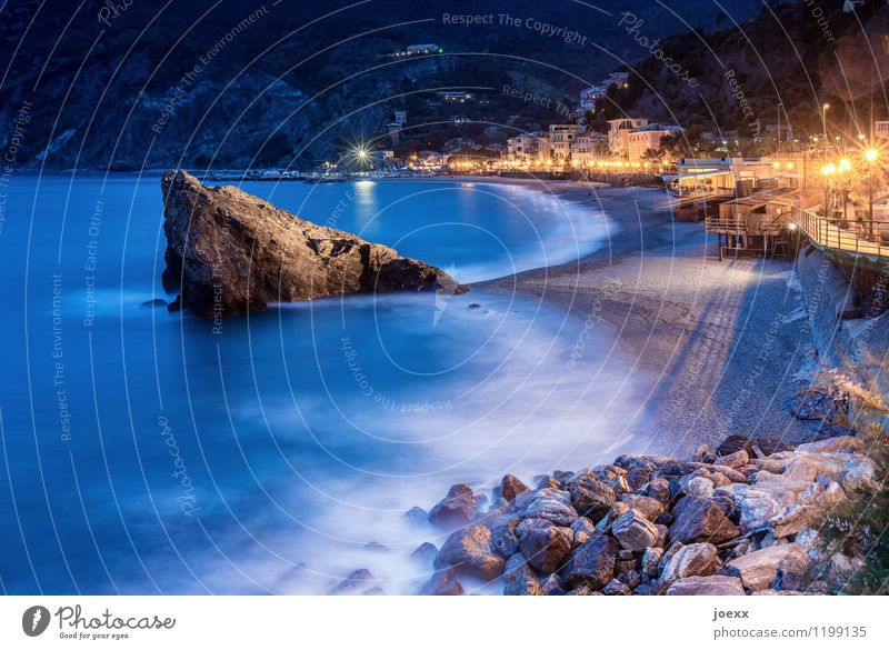 FLUX Vacation & Travel Summer vacation Beach Water Rock Mountain Waves Coast Ocean Monterosso Italy Village House (Residential Structure) Tourist Attraction