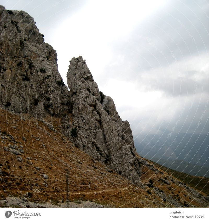 Sky Clouds Loneliness Mountain Rock Europe Thunder and lightning Spain Sublime Sparse