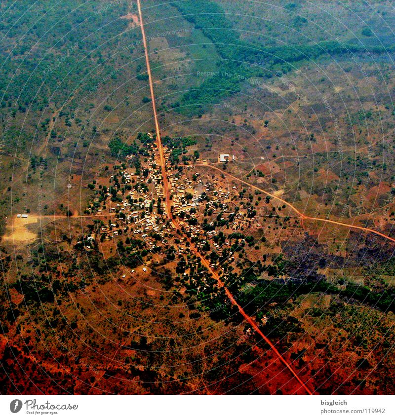 City Far-off places Street Landscape Brown Airplane Aviation Africa Bird's-eye view Aerial photograph