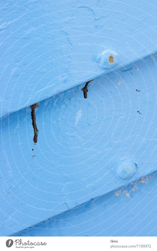 Blue Dye Wood Bright Change Diagonal Maritime Fishing boat Varnished
