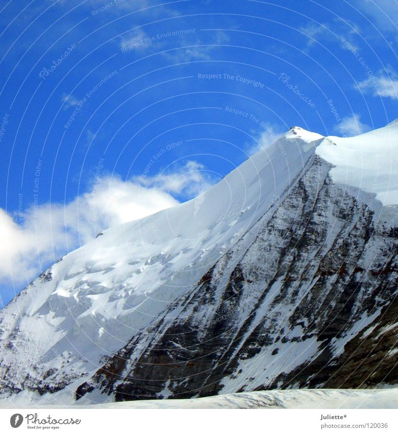 Sky Clouds Cold Snow Mountain Air Hiking Wind Might Vantage point Switzerland Climbing Mountaineering Gigantic