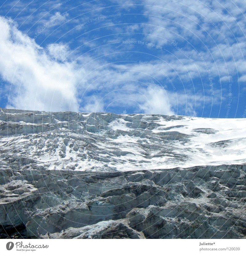 Sky Clouds Cold Mountain Snow Ice Wind Dangerous Threat Climbing Mountaineering Glacier Mountain ridge Minus degrees