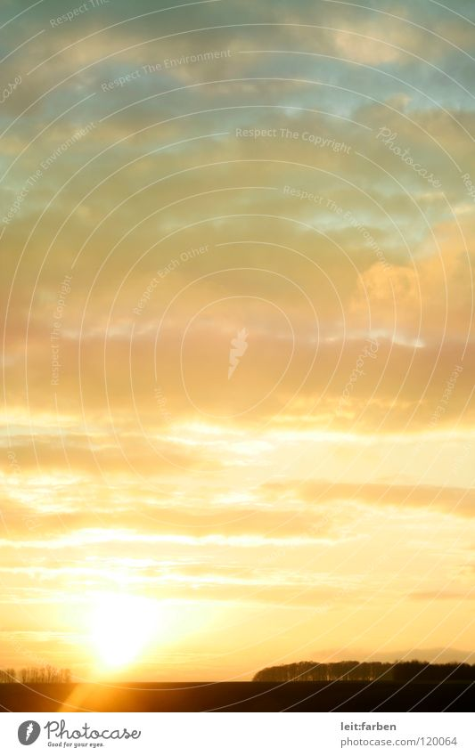 Sky Blue Sun Clouds Landscape Dream Moody Orange Beginning Romance Wake up Gorgeous Arise