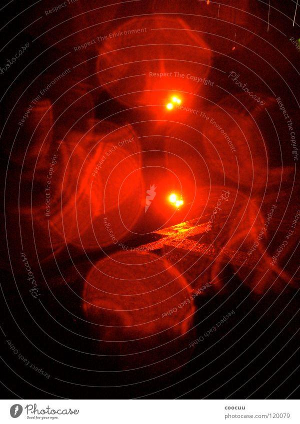 Red Colour Dark Wet Traffic light