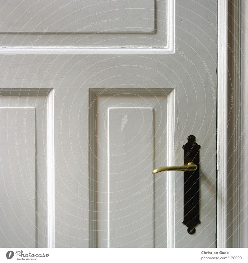 White Window Wood Door Kitchen Decoration Door handle Frame Visitor Old building Small room Brass Filling