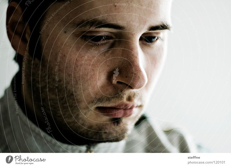 Man Face Sadness Think Contentment Mouth Skin Nose Cool (slang) Grief Lips Concentrate Facial hair Hide Surprise