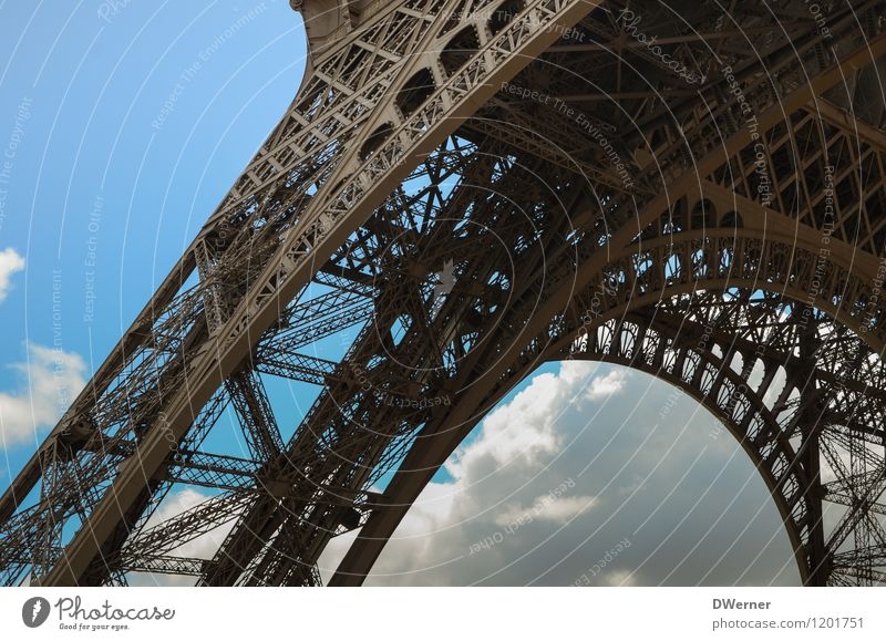 Tour Eiffel Vacation & Travel Tourism Sightseeing City trip Architecture Capital city Tower Eiffel Tower Souvenir Metal Net Network Stand Gigantic Large Blue