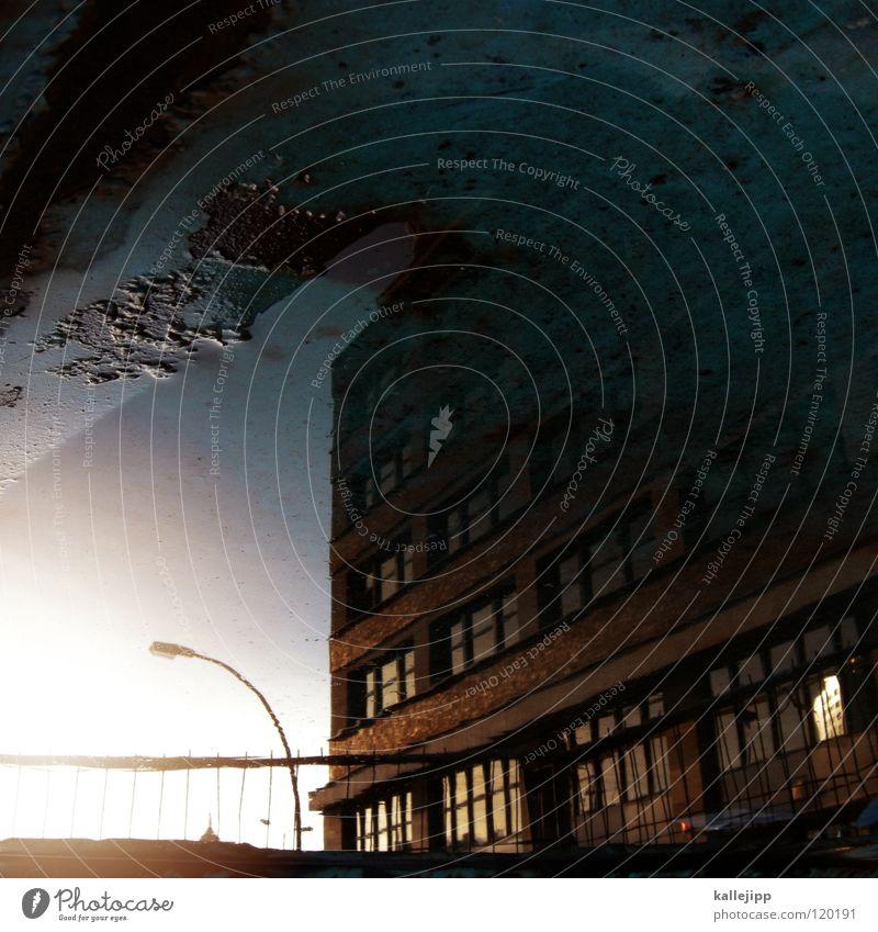 """<font color=""""#ffff00"""">-=mado´s=- sync:ßÇÈâÈâ Puddle Reflection Town Lamp Lantern Sunset Romance House (Residential Structure) Building Tenant Autumn"""
