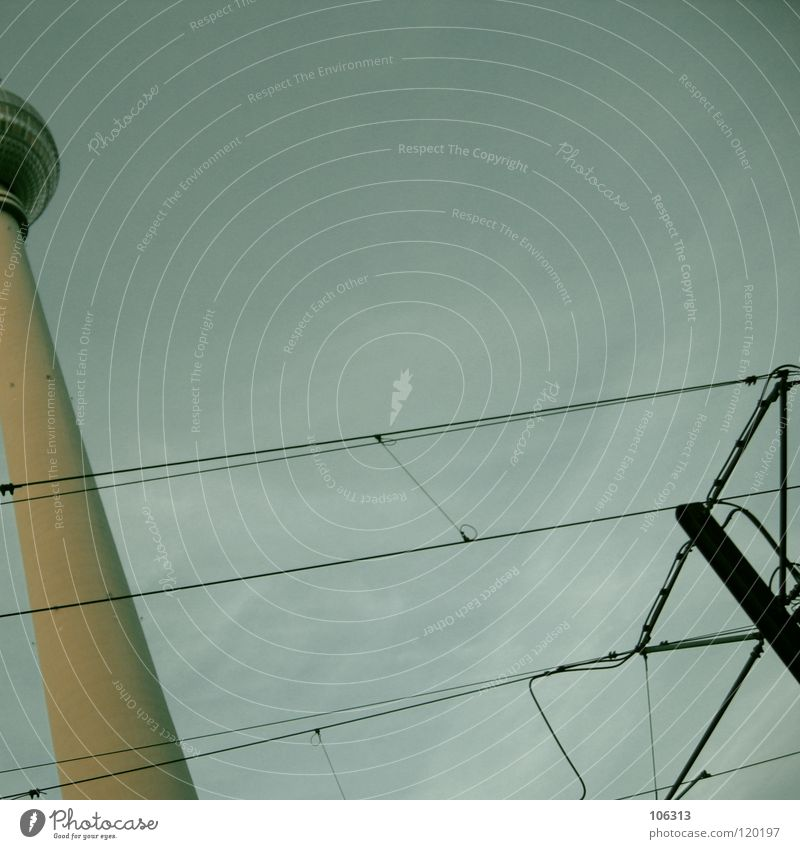OUR LOVING Berlin TV Tower Landmark East Large Might Concrete Radio waves Antenna Monument Smear Tall Manmade structures Downtown Berlin Block Rotate Tram