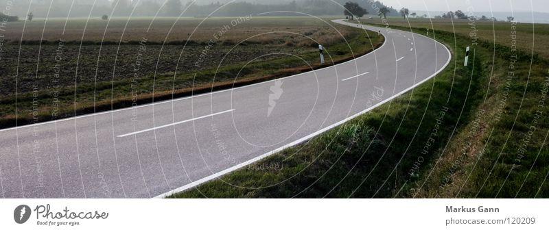 White Black Street Gray Lanes & trails Line Fog Horizon Transport Empty Future Asphalt Americas Direction Curve Black Forest