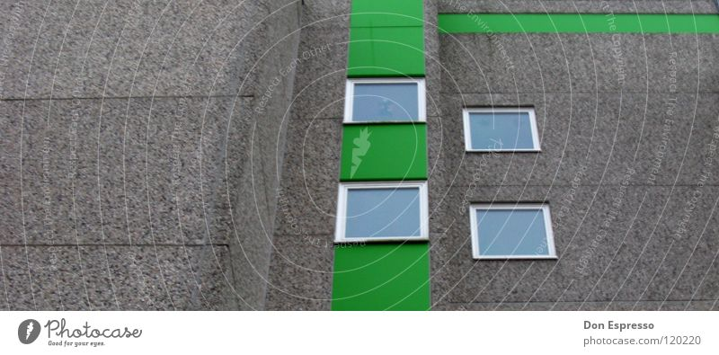 lines House (Residential Structure) Green Window Facade Wall (barrier) Gray Window pane High-rise Town Prefab construction Bremerhaven Ghetto Story Gloomy
