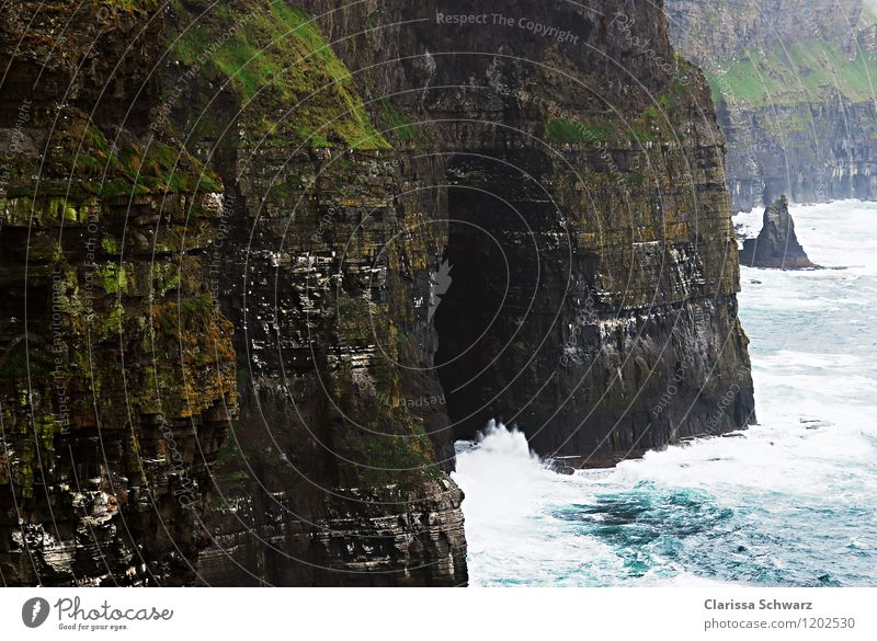 Cliffs of Moher Vacation & Travel Island Ireland Nature Landscape Water Waves Coast Ocean Adventure Esthetic Aran Islands Rock Colour photo Exterior shot