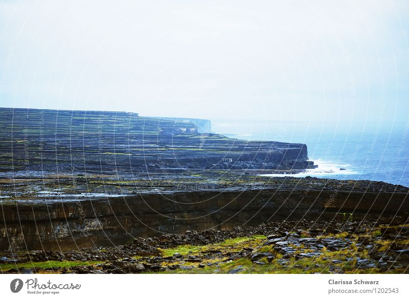 Aran Islands, Aran Islands Rock Coast Adventure Loneliness Experience Freedom Horizon Climate Ireland Ocean Stone Water Colour photo Exterior shot Deserted Day