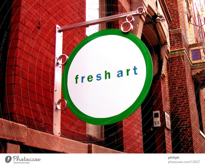 FreshArt NY York Symbols and metaphors Facade Brick Things Signs and labeling sign new fresh Modern funky