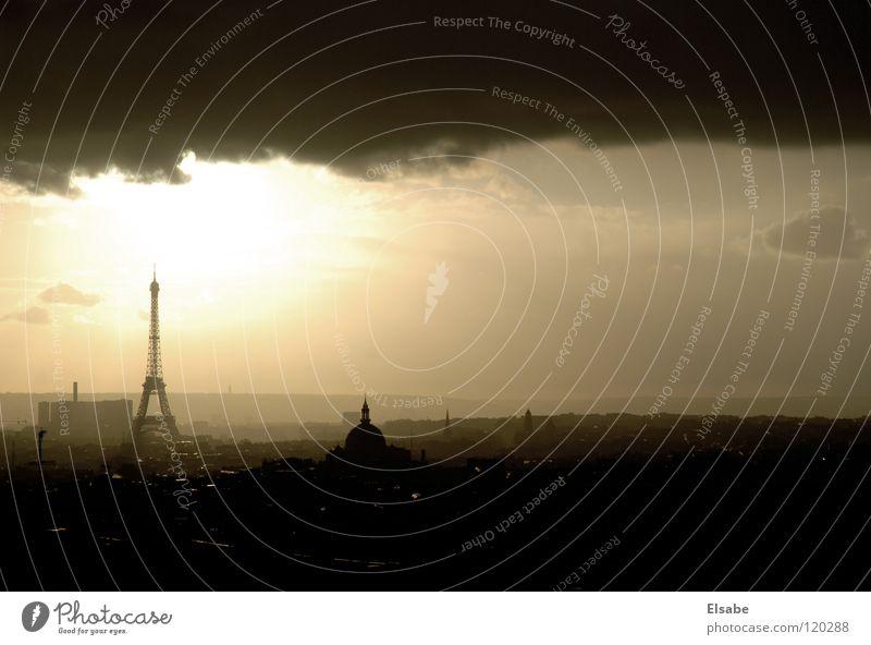 Sky City Sun Clouds Window Air Weather Large Europe Paris Balcony Monument Vantage point Landmark Thunder and lightning France