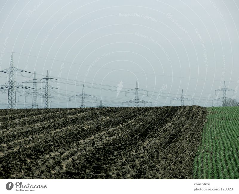 Nature Field Art Industry Energy industry Electricity Cable Agriculture Electricity pylon Household High voltage power line Arts and crafts  Expensive Costs