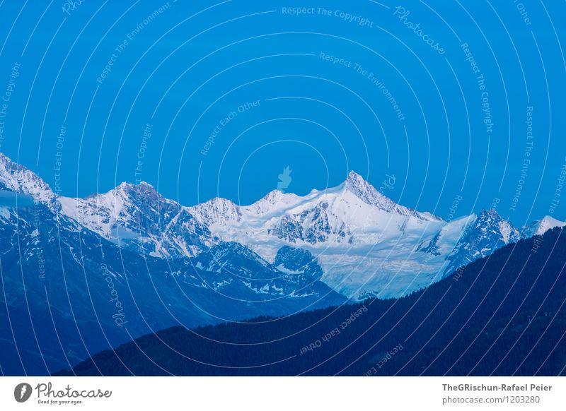 Sky Nature Blue White Landscape Far-off places Black Environment Mountain Snow Gray Rock Horizon Peak Alps Snowcapped peak