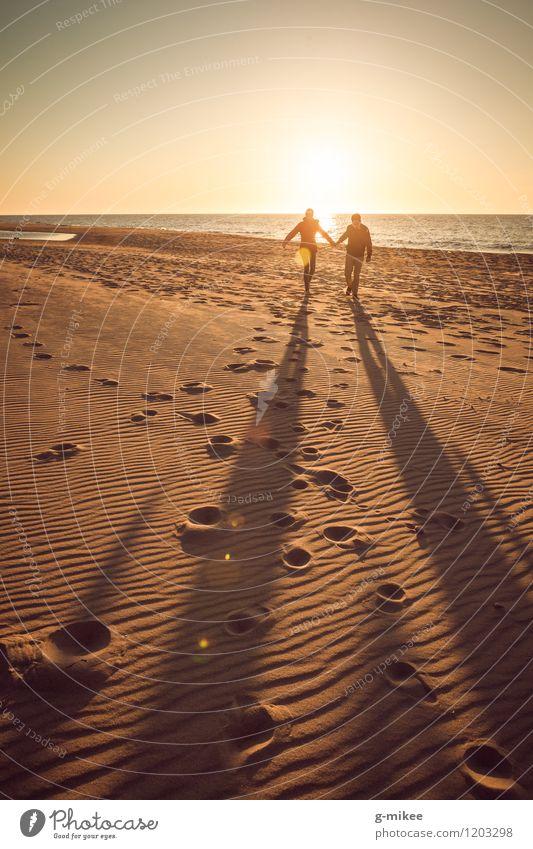 Nature Water Ocean Joy Beach Love Happy Laughter Sand Happiness Walking To enjoy Joie de vivre (Vitality) Romance Baltic Sea Infatuation