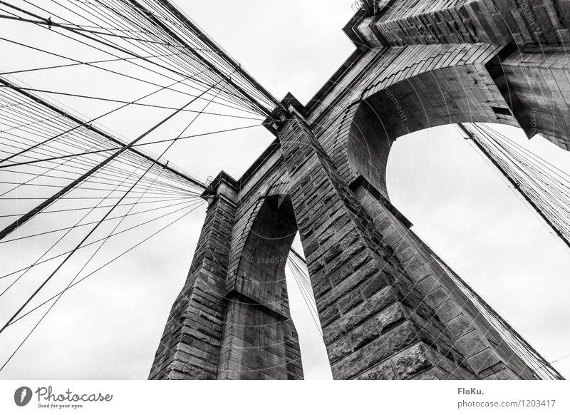brooklyn bridge Vacation & Travel Tourism Trip Sightseeing City trip New York City USA Town Port City Bridge Tourist Attraction Landmark Famousness