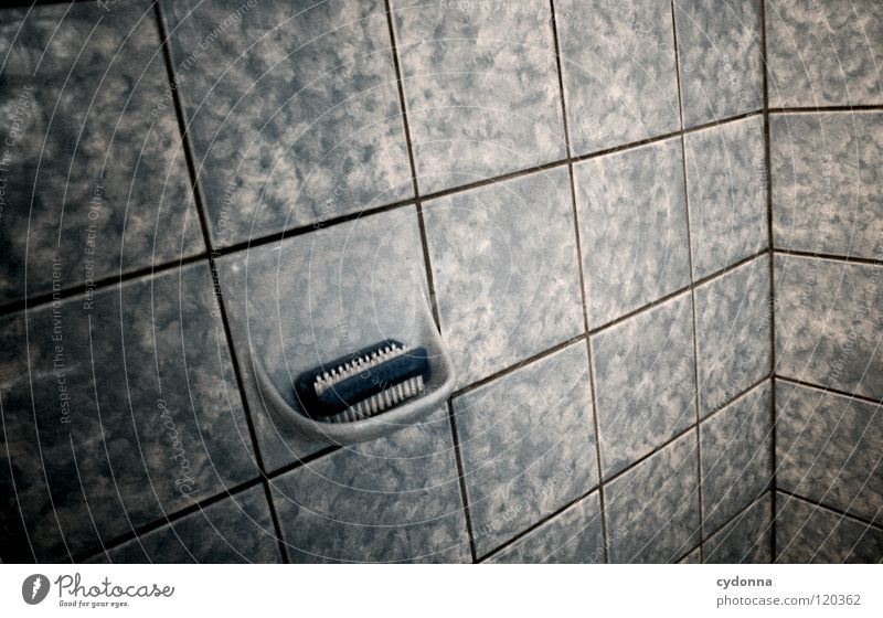 Old Water Death Dark Cold Moody Time Design Empty Corner Retro Cleaning Bathroom Things Tile