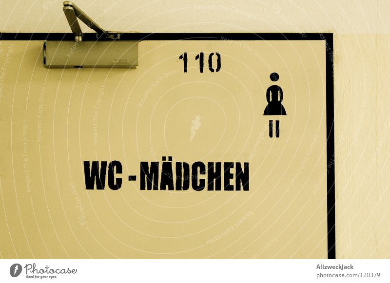 Woman Girl Door Bathroom Characters Letters (alphabet) Toilet Symbols and metaphors Pictogram Stick figure Bowel movement Ladies' bathroom