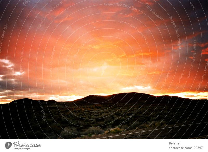 solar carnage Sunset Red Twilight Storm Celestial bodies and the universe Rain Desert Weather