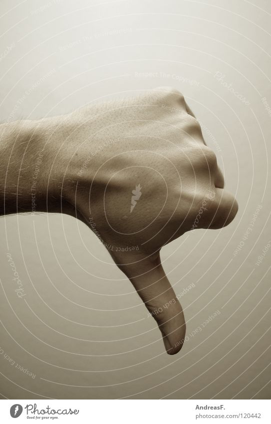 Hand Grief Anger Distress Stupid Shabby Bad Aggravation Thumb Feeble Lose Gesture Fiasco Loser Negative
