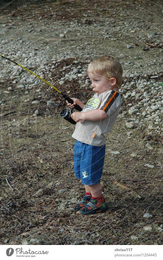 Human being Joy Boy (child) Playing Success Fishing (Angle) Pride Responsibility