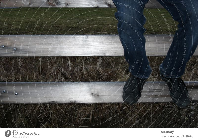 Wood Grass Legs Footwear Time Sit Wait Clothing Long Handrail Pants Boredom Joist