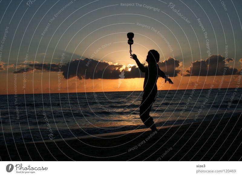 On the beach Valentine's Day Beach Ocean Sunset Violin Circus Balance Sicily piece of art