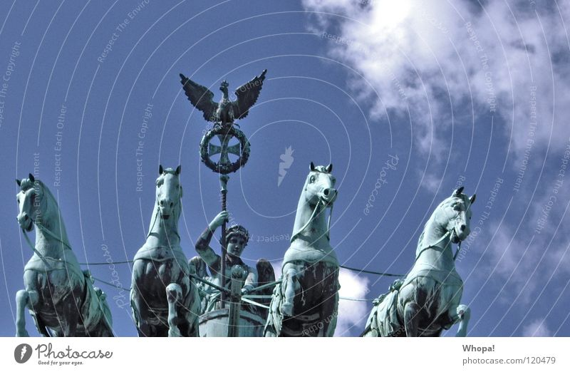 reunion Brandenburg Gate Clouds Historic Berlin Germany perder Rider Sky Blue